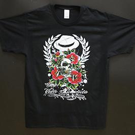 Musta t-paidan näyte A1-digitaalisella tekstiilitulostimella WER-EP6090T
