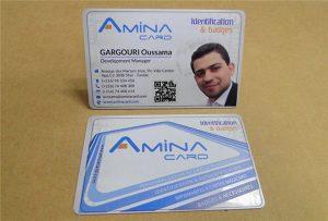 Yrityksen nimi kortin leikkausnäytteen työpöydän uv-tulostimesta -A2-koko WER-D4880UV