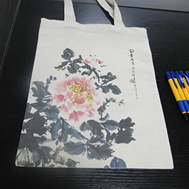 Canvas bag printing sample A2-t-paidan WER-D4880T-tulostimella