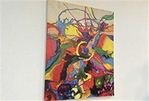 Canvas-näyte painettu A1-kokoinen uv-tulostin WER-EP6090UV
