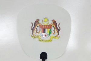 Muovipuhaltimen näyte painettu A1-kokoinen uv-tulostin 6090UV